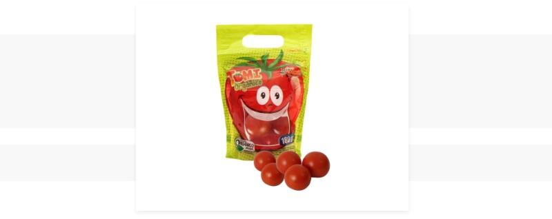 Embalagem Oxi-biodegradável tomate orgânico